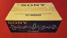 NEW OPEN BOX SONY TC-WE625 DUAL STEREO CASSETTE DECK PLAYER RECORDER
