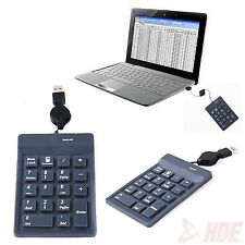 USB 18 Keys Numeric Number Keypad Keyboard Num Pad for PC Laptop Notebook