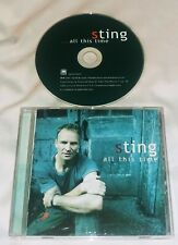 STING All This Time CD 2001 A&M
