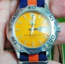 Rare  SEIKO Diver Automatic Orange Dial 100 m Stain Steel  7S26  🚚 FAST & FREE