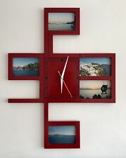LARGE STYLISH WALL CLOCK WITH PICTURE & PHOTO DISPLAY OPTION AND SILENT MOVEMENT