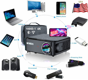 """500 """" 9500L Lumens Wi-Fi 5K HD 1080P Home Theater Projector HDMI pour PC PS4"""