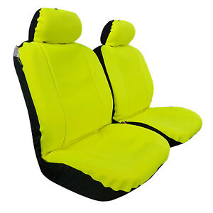 Yellow Neoprene 2pcs Universal Size Car Seat Covers For Holden Colorado Crew Cab