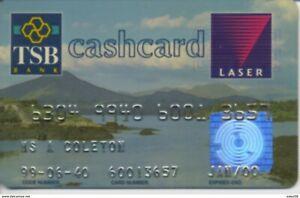 2000 IRELAND TSB bank Cashcard / Laser / Cheque guarantee RARE!
