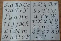 Letters Alphabet plastic stencil sheet upper/lower case vintage shabby chic