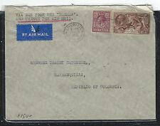 GREAT BRITAIN (P3006B) 1938 KGV 2/6 SEA HORSE +6D A/M TO COLOMBIA