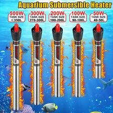 500W 220V Aquarium Submersible Heater Rapid Heating Fish Tank Water  T%^