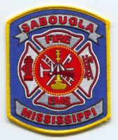 Sabougla Fire Department Patch Mississippi MS