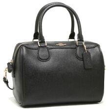 New Coach F57521 F32202 Mini Bennett Leather Satchel Handbag Crossbody Bag Black