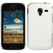 Hardcase for Samsung Galaxy Ace 2 rubberized white Cover + protective foils