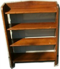 Antique British Mahogany Mid-Century Deco Bookshelf English Import Shelves