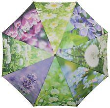 Esschert Design Umbrella Flowers 120 Cm Tp210 Dome Rain Parasol Wooden Handle