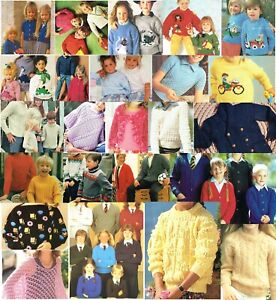 110 KNITTING PATTERNS FOR CHILDREN - ALL LISTED IN PICS/ INDIVIDUAL PDFs ON DVD