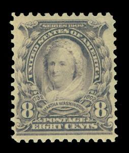 US  1902  Martha Washington  8c violet black  Scott 306  mint MNH XF