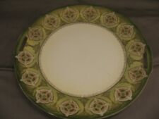 RS Germany Serving Plate w/Handles Green Border Gold Edge VGC