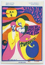 YARDBIRDS (Led Zeppelin) Original 1968 UNUSED Concert Ticket
