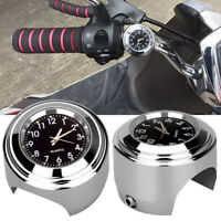 Waterproof Motorcycle Motorbike AccessoriesLuminous Handlebar Mount Clock Watch