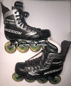 Mission Inhaler NLS 4 Inline Hockey Skates Size 9.5/8E