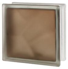 1 Seves Glasbausteine Glassteine Wolke Brilly Bronze 2seitig satiniert 19x19x8cm