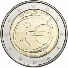 FINLAND 2 EUROS 2009 Economic & Monetary Union EMU 10 Years BU COIN