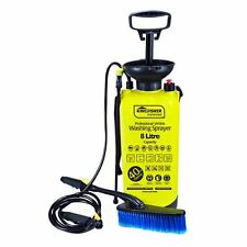 NEW 8 LITRE HIGH PRESSURE SPRAYER PORTABLE WATER JET CLEANER W/BRUSH YELLOW HOME