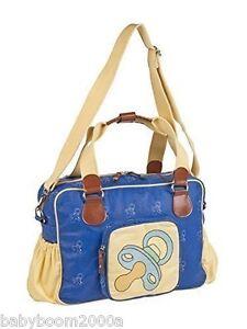 SewLomax Baby Changing Bag Pram Bag + Change Mat Blue Dummy Diaper Bag BNIP