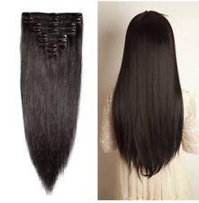 "Human Hair Extensions Dark Brown 20""-22"""
