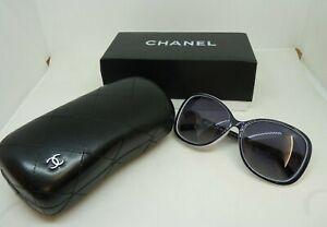 Chanel CC Sunglasses 5127 Blue Frame Charcoal Lens | Thames Hospice
