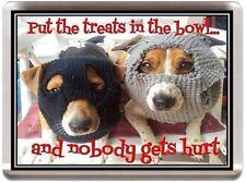 FUNNY JACK RUSSELL DOG BANDIT FRIDGE MAGNET ADULT TERRIER DISH WASHER REF GF2.1