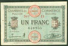 NECESSITE 1 FRANC CHAMBRE de COMMERCE DE MACON BOURG ETAT : TTB+  Lot 380