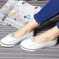 Women Slip On Loafers Peas shoes Canvas Flats Boat Leisure Sneakers Breathable