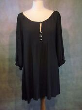 Pretty plum TANYA SARNE viscose tunic dress size s UK 10 12 14