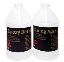 Crystal Clear Epoxy Resin General Purpose Bar Table Top Coating Wood - 1 Gal Kit