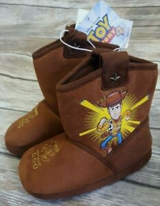 Toddler Boy Size XL 11-12 Disney Toy Story Woody Brown Boot Slippers Shoes