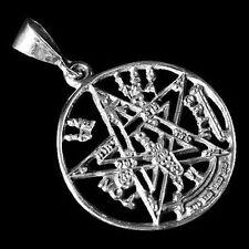 Silber Anhänger - Mystik Pentagram - 925er Sterling Silber