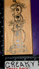 BIRDHOUSE ROOM FOR RENT RUBBER STAMP STAMPINGTON RETIRED