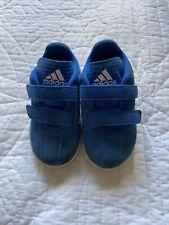 Adidas Baby Boy Blue Suede Trainers Size U.K. 6.5