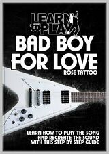 ROSE TATTOO BAD BOY FOR LOVE LEARN TO PLAY THIS CLASSIC SONG - LEARN TO PLAY DVD