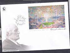 2013 Norway FDC  Edvard Munch 150th Anniv.  Painting Min Sheet NK 1841