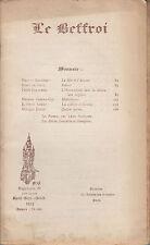 REVUE LE BEFFROI 99 - 1912  GAUCHEZ DE LISLE DELATTRE GENET DAVID...
