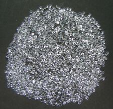 100PCS. MACHINE CUT 2,5 MM SAPHIR BLANC CORINDON DE SYNTHESE
