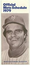 1979 New York Mets Official Schedule by Manufacturers Hanover