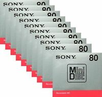 New!! Sony MD Blank Minidisc 80 Minutes Recordable MD MDW80T 10Disk Set from JPN