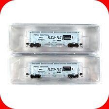 N Scale PC PENN CENTRAL Flexi-Flo NACC PD3000 Covered Hopper 2-Pack -- TRAINWORX
