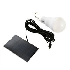 Solar Panel LED Bulb Light White Portable Indoor Outdoor Camping 15W 130lm Lamp
