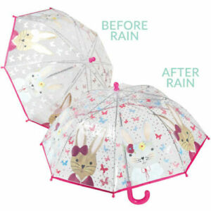 Floss & Rock Kids Colour Changing Umbrella Bunny Rabbit Children's Brolly