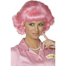 Women's Frenchy Wig Grease Pink Lady Hen Fancy Dress Accessories Movie Fun