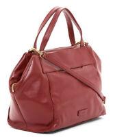 HOBO Modern Day Leather Satchel Tote Shoulder Bag Handbag in Wine