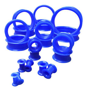 PAIR Soft Silicone Ear Tunnels Plugs - choose from 10 colors up to size 50mm!