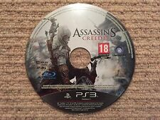 Assassins Creed 3-Sony Playstation 3 PS3 PAL Reino Unido Solo Disco